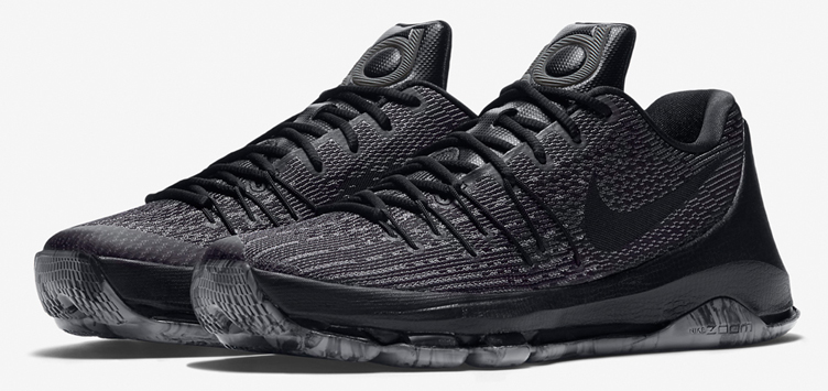8015a16c866 Nike kD 8 Blackout Triple Black Knit Hat