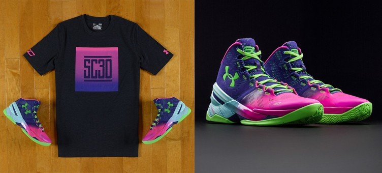 "Under Armour Curry Two ""Northern Lights"" x SC30 Box Out T-Shirt"