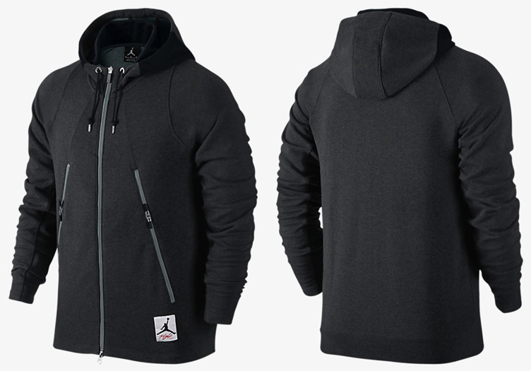 air jordan retro 4 flight full-zip hoodie