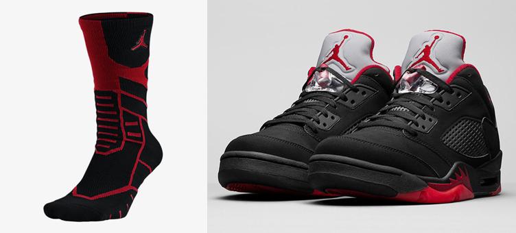 1bcc93da6df30 Air Jordan 5 Low Alternate 90 Jumpman Socks | SneakerFits.com