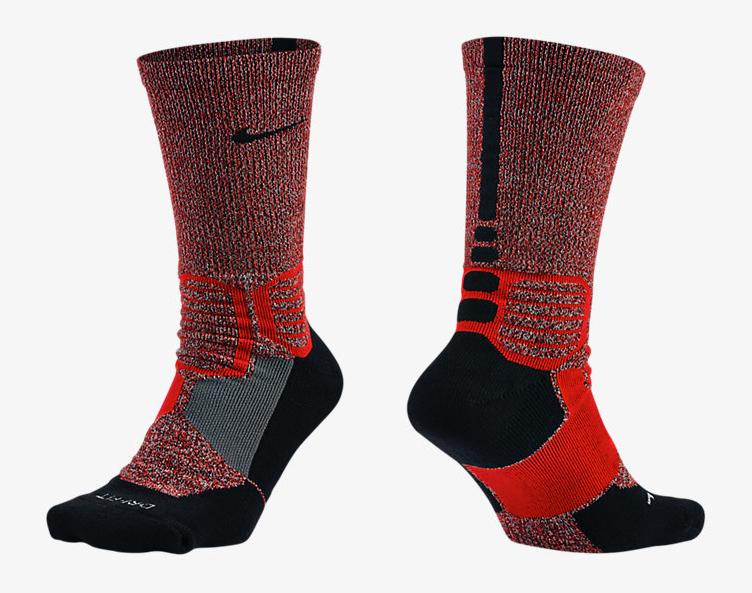 Nike Hyperelite Crossover Black/Black Basketball Socks