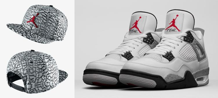 4949a3a6956 Air Jordan 4 OG White Cement Jumpman Hat