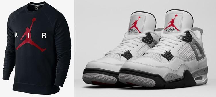 "Air Jordan 4 ""White/Cement"" x Jordan Jumpman Graphic Crew Sweatshirt"