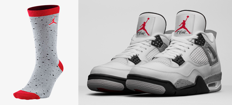 air-jordan-4-retro-cement-socks-grey-red