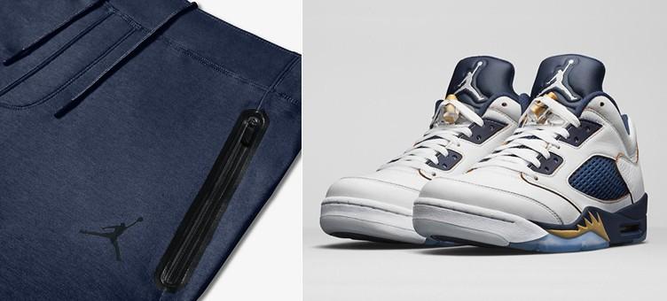 "Air Jordan 5 Low ""Dunk From Above"" x Air Jordan Lite Fleece Basketball Pants"