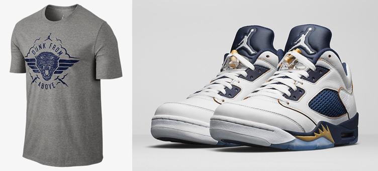 03322b9b81d Air Jordan 5 Low Dunk From Above Shirt in Grey | SneakerFits.com