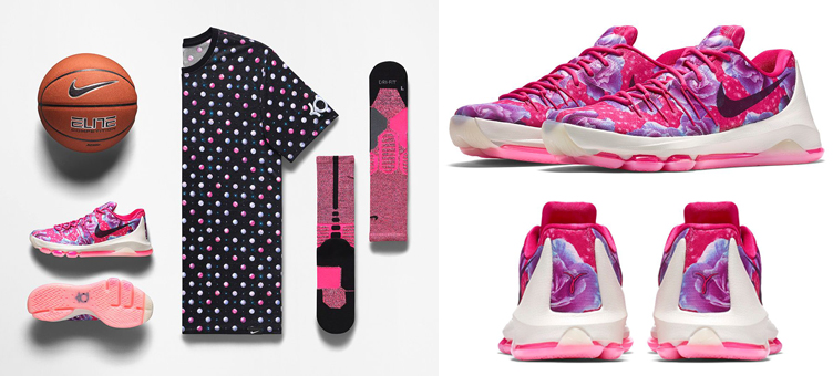 buy online 2b8be 6d1e0 Nike KD 8 Aunt Pearl Clothing Shirt and Socks   SneakerFits.com