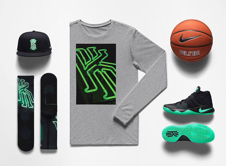 cheaper ed812 27c58 nike-kyrie-2-green-glow-kyrie-oke-clothing