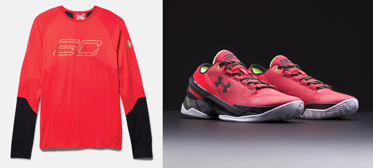 uk availability 8a19f 96ac7 Under Armour Curry Two Low Energy Red Shirt | SneakerFits.com