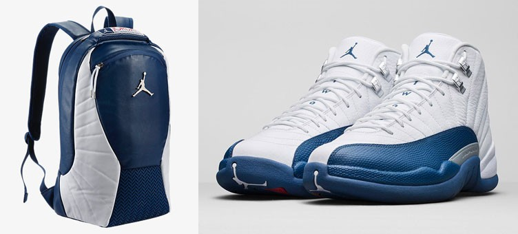 "763174c7c62 Air Jordan 12 Retro ""French Blue"" x Jordan Retro 12 Backpack"