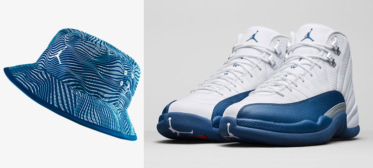 Air Jordan 12 French Blue Bucket Hat  9c6216d7944