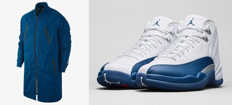 "Air Jordan 12 Retro ""French Blue"" x Jordan AJ 12 Jacket"