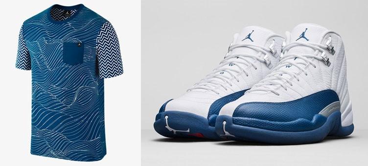air-jordan-12-french-blue-pocket-t-shirt