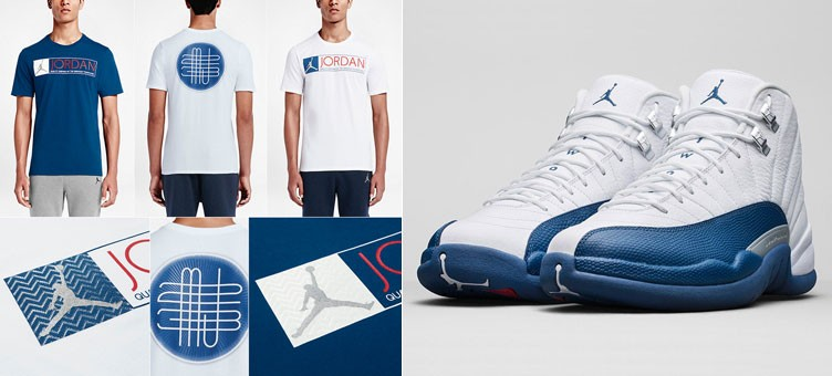 "Air Jordan 12 T-Shirts to Match the Air Jordan 12 Retro ""French Blue"" 38db4492ea6"