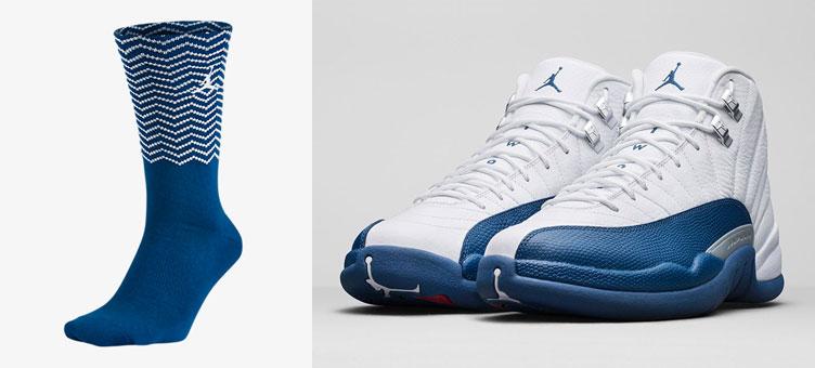 air-jordan-12-french-blue-socks
