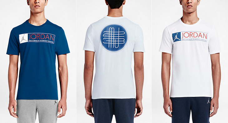 Shirts to match the air jordan 12 french blue for French blue t shirt
