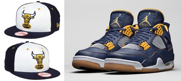 "Air Jordan 4 Retro ""Dunk From Above"" x New Era Chicago Bulls Sneaker Hook Hat"