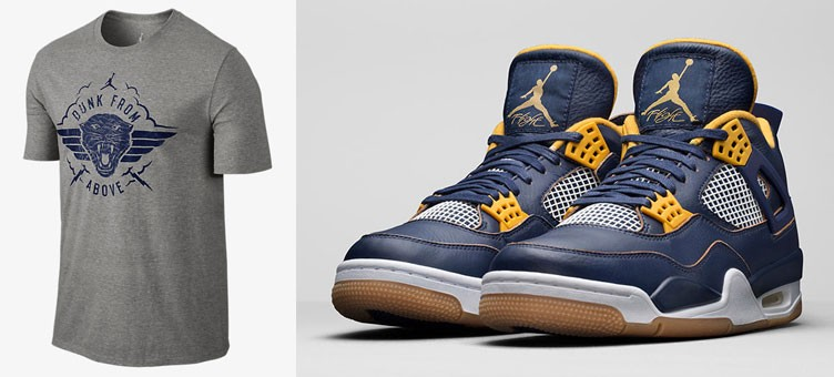 "1a8c8c141d96bb Air Jordan 4 Retro ""Dunk From Above"" x Jordan Elite Squadron T-Shirt"