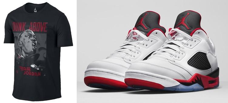 air-jordan-5-low-fire-red-dunk-from-above-shirt