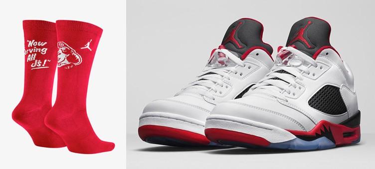 air-jordan-5-low-fire-red-socks