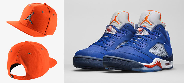 best service 1e431 4f7ce Air Jordan 5 Low Knicks Orange Hat | SneakerFits.com