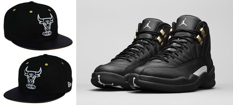 "Air Jordan 12 ""The Master"" x New Era Chicago Bulls Sneaker Hook Up Hat"