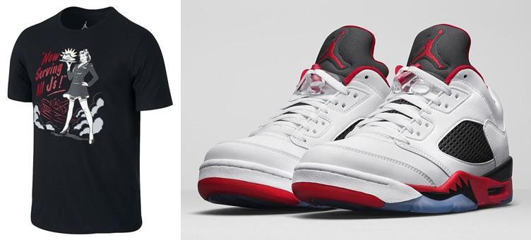 jordan-5-low-fire-red-now-serving-shirt