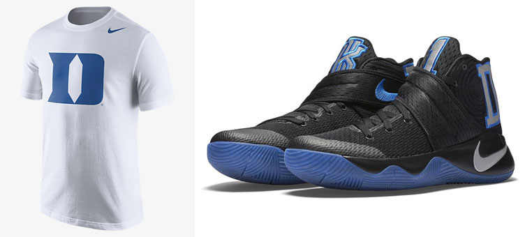 a320378ec07b Nike Kyrie 2 Duke PE Kyrie Irving Shirt