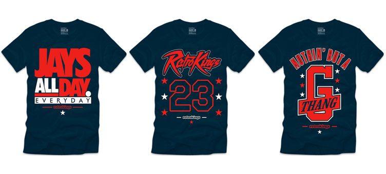 "Retro Kings Sneaker Shirts to Match the Air Jordan 1 Retro ""Letterman"""