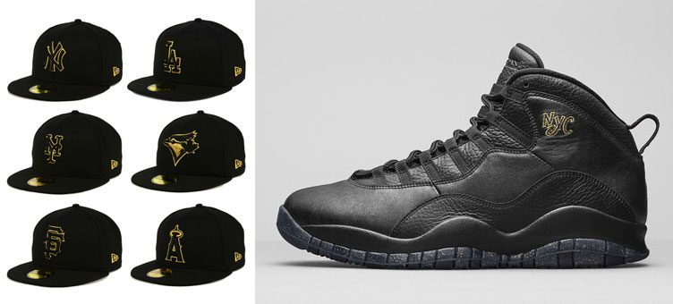 air-jordan-10-new-era-black-gold-mlb-caps