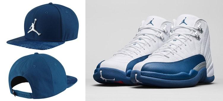 "Air Jordan 12 Retro ""French Blue"" x Jordan Retro 12 Snapback Hat"