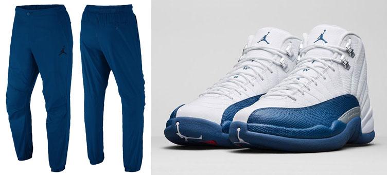 9fcaf26a086322 Air Jordan 12 French Blue Pants