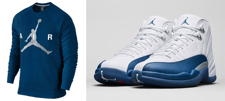 182645f1241646 Air Jordan 12 French Blue Hoodies and Sweatshirts