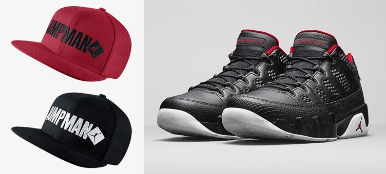 brand new 28f33 d47a2 air-jordan-9-low-black-white-red-hats