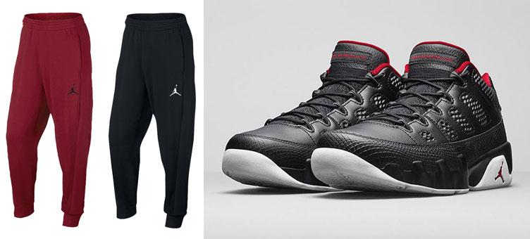 air-jordan-9-low-black-white-red-sweatpants