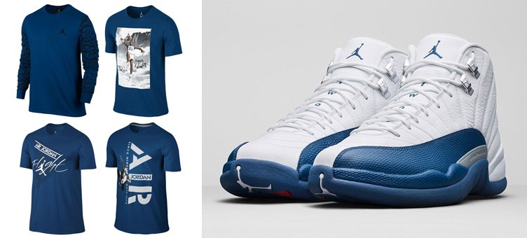 jordan-12-french-blue-t-shirts