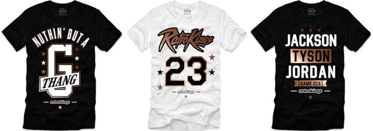 "Retro Kings Sneaker Shirts to Match the Air Jordan 17 + Retro ""Copper"""