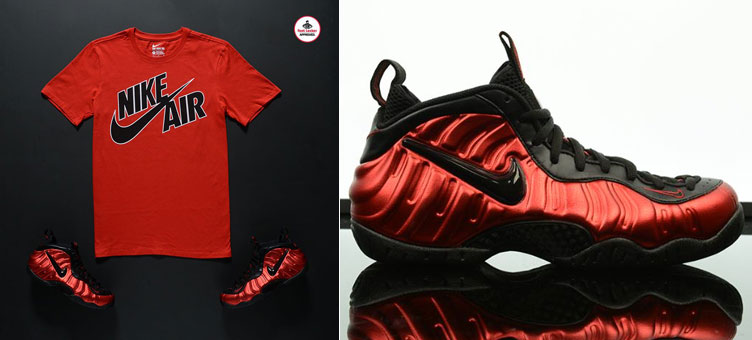 official images fashion styles wholesale outlet Nike Air Foamposite Pro University Red Shirt | SneakerFits.com