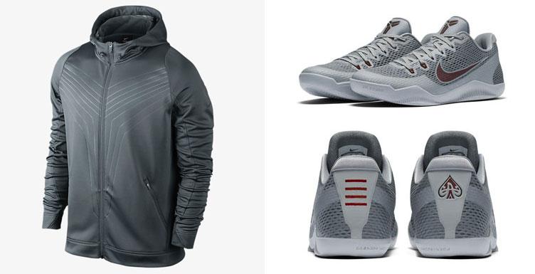 512b8a235711 nike kobe 10 elite grey hoodie