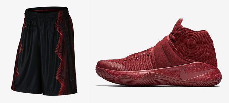 """97c0d9933ce2 Nike Kyrie 2 """"Red Velvet"""" x Nike Kyrie Irving Elite Basketball Shorts"""