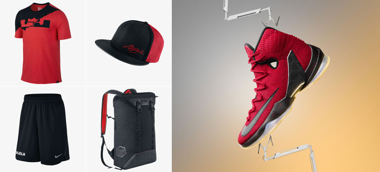 separation shoes 448ba b3887 Nike LeBron 13 Elite Red Clothing and Gear | SneakerFits.com