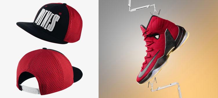 8df2ea61d2 Nike LeBron 13 Elite Red Black Hat