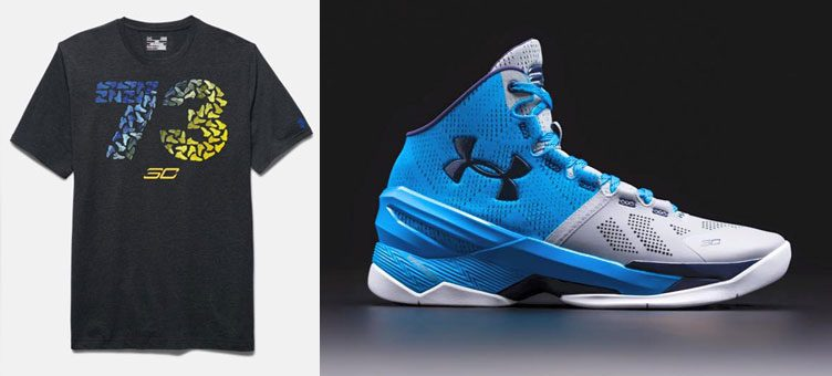 """finest selection 8d895 cb4ef Under Armour Curry Two """"Electric Blue"""" x Under Armour SC30 Seventy Three  T-Shirt"""