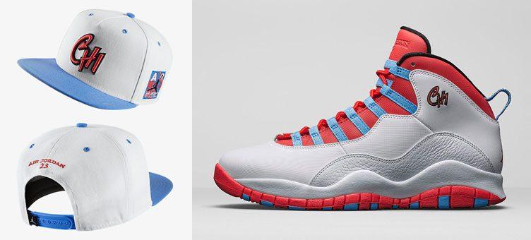 "Air Jordan 10 Retro ""Chicago"" x Jordan 10 City Pack Chicago Snapback Hat c8e282c7bfc"