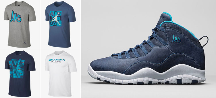 6afea1cf76e6 Air Jordan 10 Los Angeles Shirts