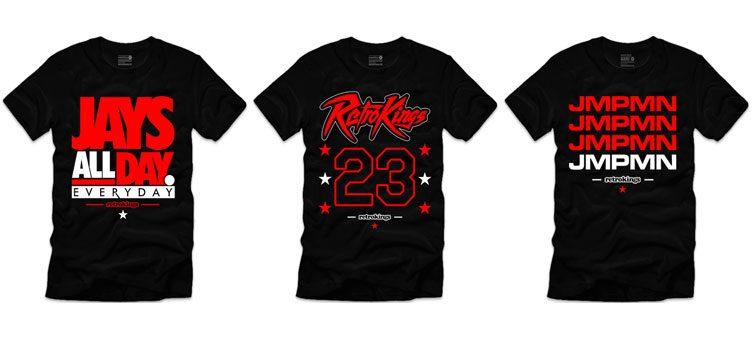 "b4766f6517f Retro Kings Sneaker Shirts to Match the Air Jordan 12 ""Flu Game"""