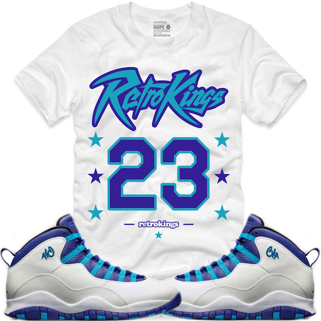 f783fca2f19 Jordan 10 Charlotte Sneaker Shirts by Retro Kings | SneakerFits.com