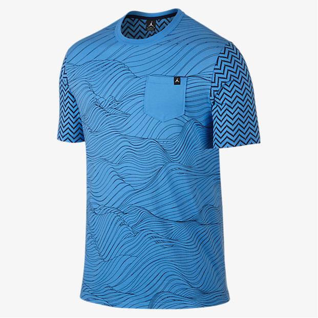 Air jordan 12 unc university blue pocket tee for We are jordan unc shirt