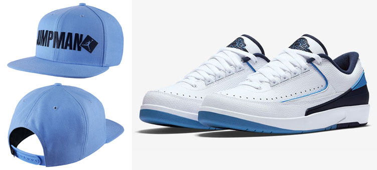 free shipping aada3 6ed6b Air Jordan 2 Low UNC University Blue Cap | SneakerFits.com