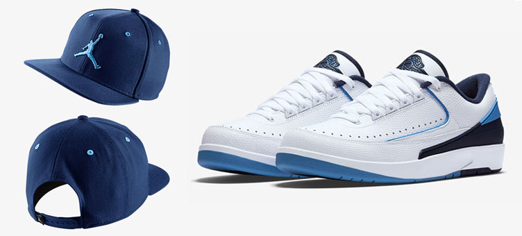 317072e3178 Air Jordan 2 Low UNC Navy Jumpman Hat